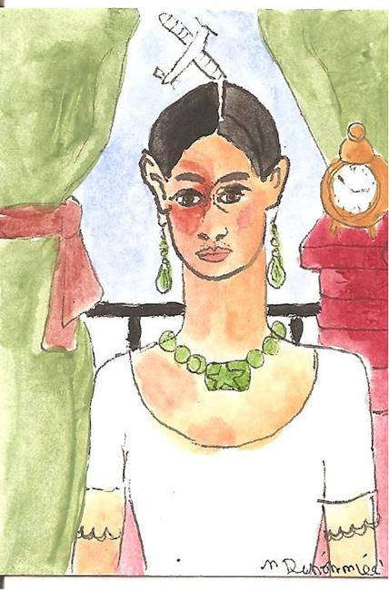 Art: Forty Fridas # 1 ACEO by Artist Nancy Denommee
