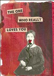 Art: The One Who Really Loves You original ACEO collage by Artist Nancy Denommee