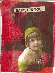 Art: Baby Its You original collage ACEO by Artist Nancy Denommee