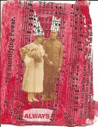 Art: Always original collage ACEO by Artist Nancy Denommee