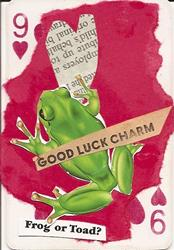 Art: Good Luck Charm original collage ACEO by Artist Nancy Denommee