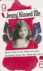 Art: Jenny Kissed Me original ACEO collage by Artist Nancy Denommee