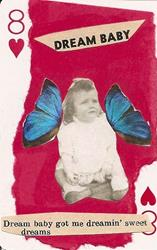 Art: Dream Baby original ACEO collage by Artist Nancy Denommee