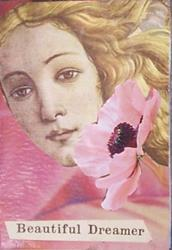 Art: Beautiful Dreamer original ACEO collage by Artist Nancy Denommee