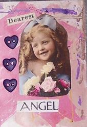 Art: Dearest Angel mixed media ACEO by Artist Nancy Denommee