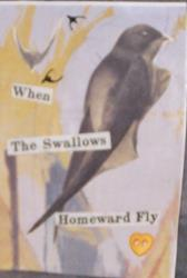 Art: When the Swallows Homeward Fly original ACEO by Artist Nancy Denommee