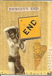 Art: Journey's End original collage by Artist Nancy Denommee