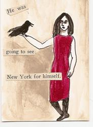 Art: He Was Going to See New York for Himself by Artist Nancy Denommee