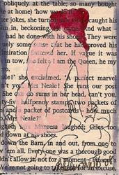 Art: Virginia Woolf Nude painting # 3 ACEO by Artist Nancy Denommee