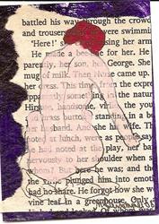 Art: Nervously to Her Shoulder original ACEO by Artist Nancy Denommee