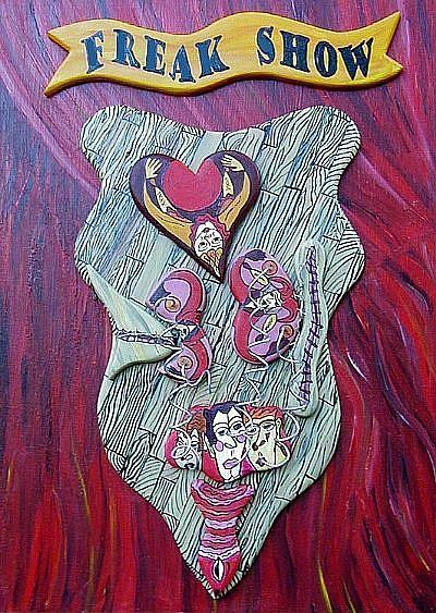 Art: FREAK SHOW SELF by Artist Jen Thario