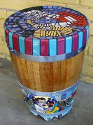 Art: Chicago Blues Conga Drum Table by Artist Jen Thario