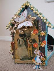 Art: Sold - Alice's Misadentures in the Wrong Wonderland - a peekaboo Shadow Box by Artist Shawn Marie Hardy