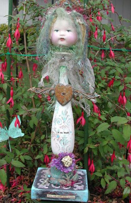 Art: SOLD - Mary to the World by Artist Shawn Marie Hardy