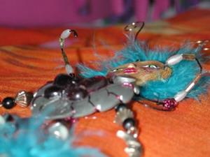 Detail Image for art SOLD - Luna Mare, Nymph of Fertility, OOAK Insect Doll