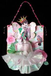 Art: SOLD - A Girl and her Doll OOAK Paper Art Doll by Artist Shawn Marie Hardy