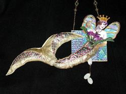 Art: SOLD - Golden Mermaid OOAK ART DOLL by Artist Shawn Marie Hardy