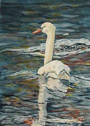 Art: Beth's Swan by Artist Melanie Pruitt