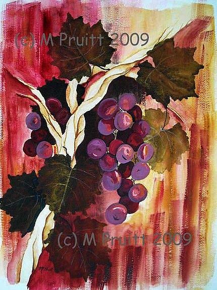 Art: Grape Vine by Artist Melanie Pruitt