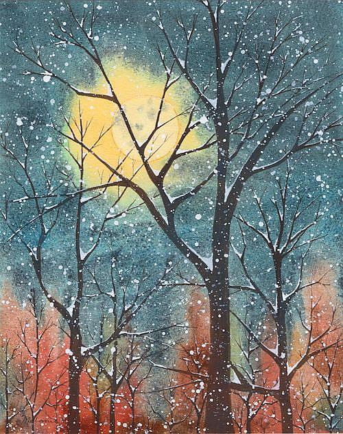 Art: Anne's Winter Moon by Artist Melanie Pruitt