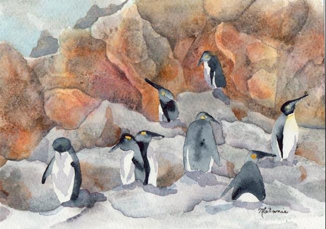 Art: Penguins by Artist Melanie Pruitt