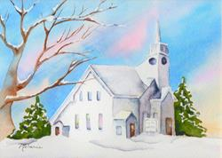 Art: Maine Baptist Church by Artist Melanie Pruitt