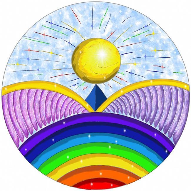 Art: Winging It Mandala by Artist Maureen Frank