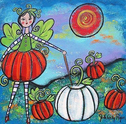 Art: The Pumpkin Fairy by Artist Juli Cady Ryan