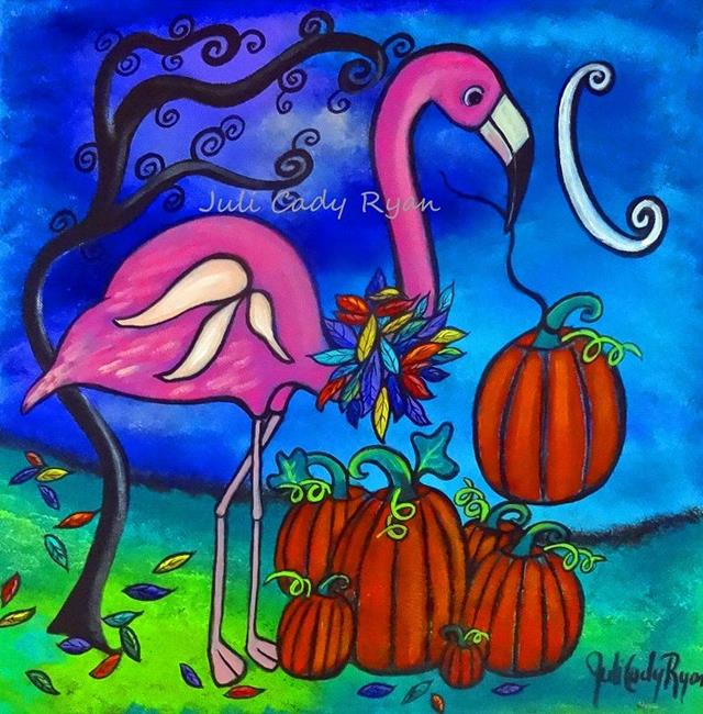 Art: The Fall Flamingo by Artist Juli Cady Ryan