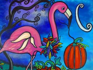 Detail Image for art The Fall Flamingo