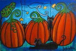 Art: A Frolicking Fall by Artist Juli Cady Ryan