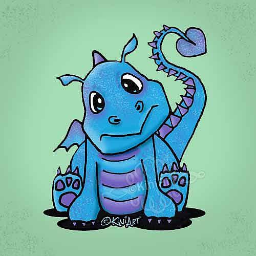 Art: Baby Dragon by Artist KiniArt