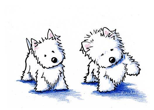 Westie cartoon the image kid has it for Westie coloring pages
