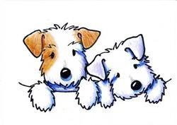 Art: KiniArt Sealyham Terriers by Artist KiniArt