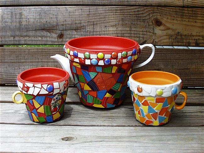 Art Fiesta Flower Pot Trio Sold By Artist Laura Winzeler