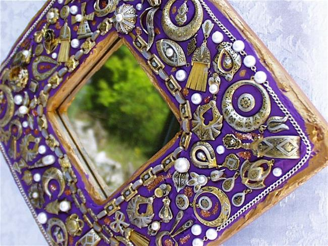 Art: Solely Spanish Jewelry Mosaic Mirror (SOLD) by Artist Laura Winzeler