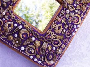 Detail Image for art Solely Spanish Jewelry Mosaic Mirror (SOLD)