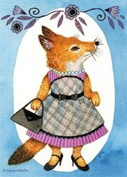 Art: Fashion Fox by Artist Carmen Medlin