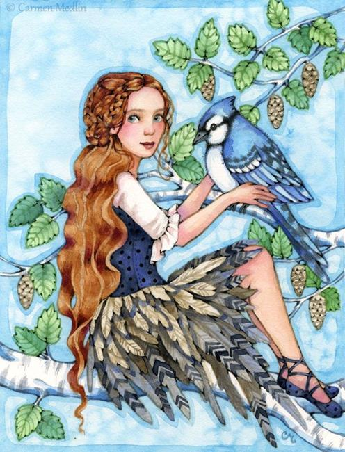 Art: A Blue Jay Day - Available by Artist Carmen Medlin