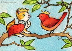 Art: King of the Tree ACEO - Available by Artist Carmen Medlin