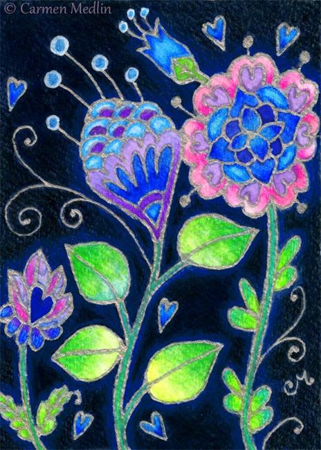Art: Silver Glow ACEO - Available by Artist Carmen Medlin