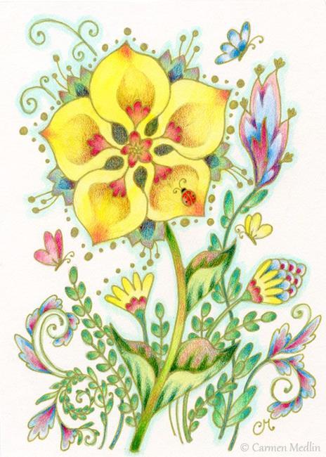 Art: Yellow Joy - Available by Artist Carmen Medlin