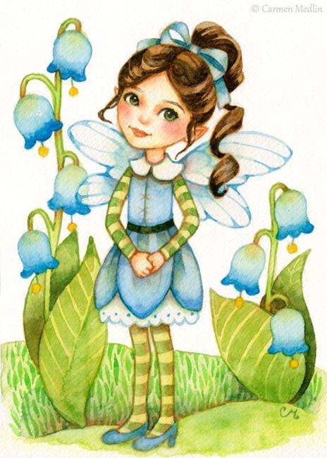 Art: Little Bluebells - Available by Artist Carmen Medlin