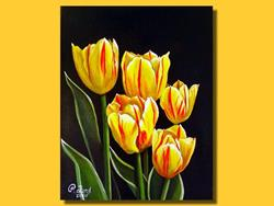 Art: Red and Yellow Tulips #1 by Artist Rita C. Ford