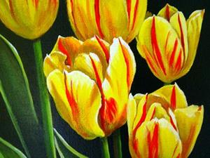 Detail Image for art Red and Yellow Tulips #1