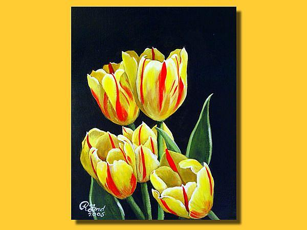 Art: Red and Yellow Tulips #2 by Artist Rita C. Ford