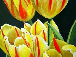 Detail Image for art Red and Yellow Tulips #2