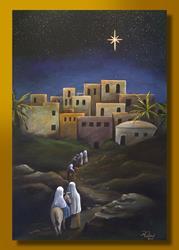 Art: Journey to Bethlehem by Artist Rita C. Ford