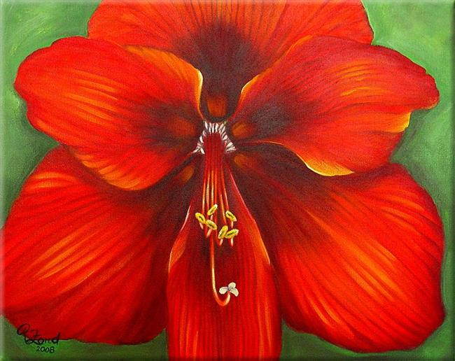 Art: Amaryllis by Artist Rita C. Ford