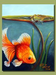 Art: Water Garden Friends #1 by Artist Rita C. Ford